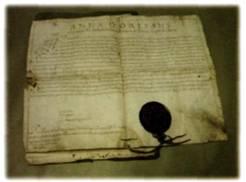 Pergamena con firma autografa di Anna D'Orlèans